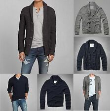 NWT Abercrombie & Fitch Men Shawl Collar Button Cardigan Sweater sz M L XL