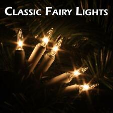 Traditional  Indoor Fairy Lights Filament glass Clear Colour Wedding Party Xmas
