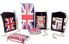 British Union Jack Small Coin Wallet Card Purse Wallet London Icons