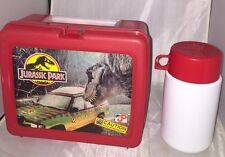 JURASSIC PARK - Vintage Plastic Lunchbox WITH THERMOS 1992