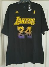 Adidas NBA Hollywood Nights Kobe Bryant jersey graphic T-shirt sz XL black NWT