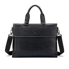 Men's Genuine Leather Business Casual Briefcase Handbag Shoulder Laptop Bag