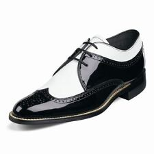 Stacy Adams Dayton Black & White Patent Lace-Up