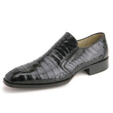 Mezlan Fiorello Black Slip-On Genuine Crocodile Skin