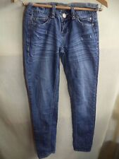 Arden B Womans Jeans Cotton Distressed Legs Bling Embroidered Pockets Sz 2 VGC