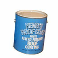 Heng's 45128-4 1 Gallon White Aluminum & Fiberglass Roof Coating