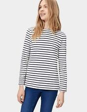 NEW JOULES HARBOUR (W) CREAM STRIPE LAYERING TOP SUMMER FREE P&P BNWT