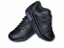 """Boys Trainers Air Tech Lace Up Black LEGACY """"Air Sole""""Sizes 13-6 Available"""