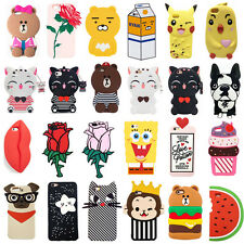 3D Animals Flower Cartoon Soft Silicone Case Cover Back Skin For iPhone5 6 7Plus