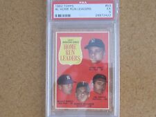 1962 Topps A.L. Home Run Leaders #53 Mantle  PSA 5 EX