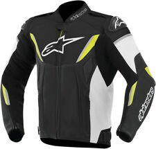 Alpinestars Mens Black/White/Yellow Fluo GP-R Perforated Motorcycle Race Jacket