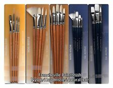 Francheville paint brush nylon hog bristle natural oil acrylic watercolour craft