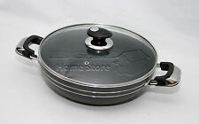 HQ Una 30cm Induction Compatible Non Stick Wok Frying Pan Sauce With Glass Lid