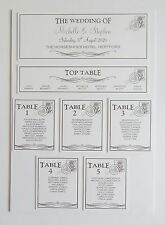 Wedding Place Card * Table Number * Menu * Camera Card * Table Plan * Signs *VP*