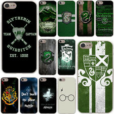 Harry Potter Slytherin School Crest Quidditch Hard Plastic Case For iPhone