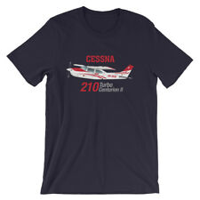 Cessna 210 Turbo Centurion II (Red) Airplane T-shirt- Personalized with N#