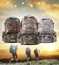 Army Backpack Hiking Outdoor Camping Travel Military Rucksack Moll 50L Nylon Bag