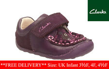 Clarks baby Girls Infant shoes Little Ditz Purple Suede First Shoes