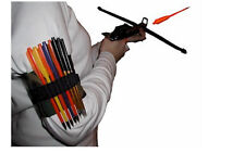 Pistol QUIVER, Crossbow QUIVER, Left and Right Handed, Holds15 bolts