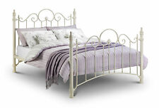 Julian Bowen Florence Metal Bed in Stone White - Free Delivery - Various Sizes
