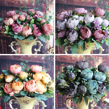 Artificial Peony Silk Flowers Bridal Hydrangea Garden Decor Flower Arrangement