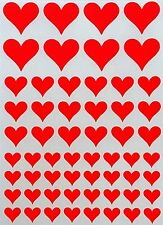 Metallic Heart Color Stickers For Art Crafts Projects Quality Labels 400 Pack