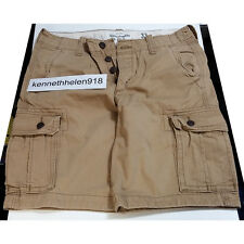 NWT ABERCROMBIE & FITCH MENS CARGO SHORTS KHAKI SIZE 33 A&F
