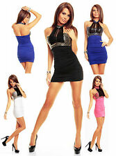 NEW SEXY WOMEN CLUBBING SEQUENCE MINI DRESS LADIES PARTY TOP SIZE 6 8 10 12 S M