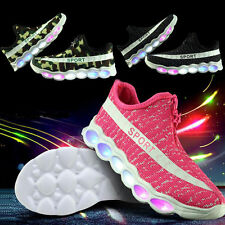 Boys Girls Luminous Sportswear Casual Sneakers LED Light Up Shoes Children Kids