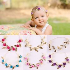 Kids Girls Baby Headband Toddler Rose Flower Wedding Home Hair Band Accessories