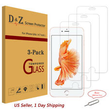 3PK Premium Real Tempered Glass Screen Film Protector For Apple iPhone 6s/8 Plus