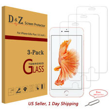 3PK Premium Real Tempered Glass Film Screen Protector for Apple iPhone 6 8+ Plus