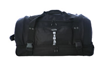 Rolling Duffle Bag 30-inch Drop-Bottom Upright Duffle Bag Multi-Compartment Tote