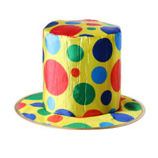 Polka Dot Clown Top Hat for Circus Magician Fancy Dress Birthday Party Supplies