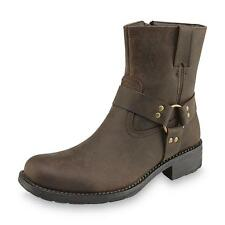 New Men's GBX 42497 Delamar Leather Harness Boots - Dark Brown (2-A13)