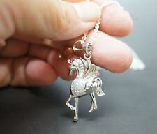 Sterling Silver Pony Necklace Tiny Horse Pendant in Sterling Silver Horse Neckla