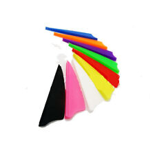 """12, 36, 50 or 100 Pack TPU Shield 3"""" Arrow Vanes Fletching 7 Colors Available"""