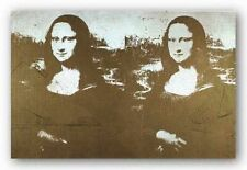 POP ART PRINT Two Golden Mona Lisas by Andy Warhol