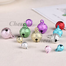 50pcs Mixed Color Christmas Jingle Bells Charm Copper Metal Decoration DIY Craft