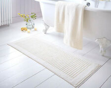 Extra Long Bathmat, choice of cream, blue or latte. thick bathroom bath water to