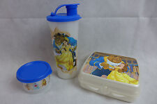 Tupperware Beauty & The Beast Lunch Set Sandwich Keeper Tumbler Snack Cup New
