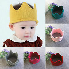 2017 Cute Crown Baby Cap Crochet Knit Hat For Baby Boy Girl Kids