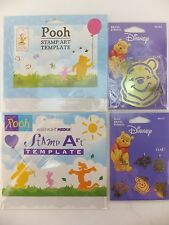 Winnie the Pooh Brass Stencil Lot of 4 Tigger Piglet Honey Bee Disney