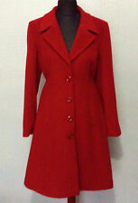 Womens Wool Cashmere Winter Lined Outerwear Overcoat Jackets Warm Button Up Coat