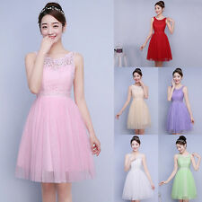Fashion Women's Lace Short Dress Evening Party Cocktail Bridesmaid Wedding Prom