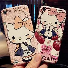 Cartoon Cute Hello Kitty Soft PU Leather for iPhone 7 7plus Phone Case  Silk pat