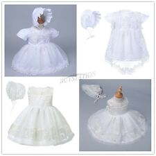 NWT Baby Girls Christening Gown Baptism 2PCS Lace Dresses Clothes Outfit 0-2Y