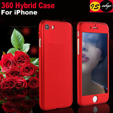 360° Hybrid Full Body Hard Case Cover + Tempered Glass For iPhone 6 Plus 6S Plus