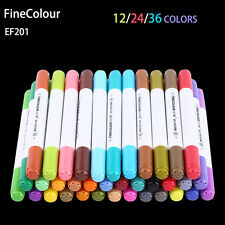 12/24/36 Colors Finecolour Sketch Marker Pen Set Liquid ink Dual Tips Markers SG