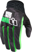 Icon Mens Green/Black Leather/Textile Mesh Anthem Primary Motorcycle Gloves